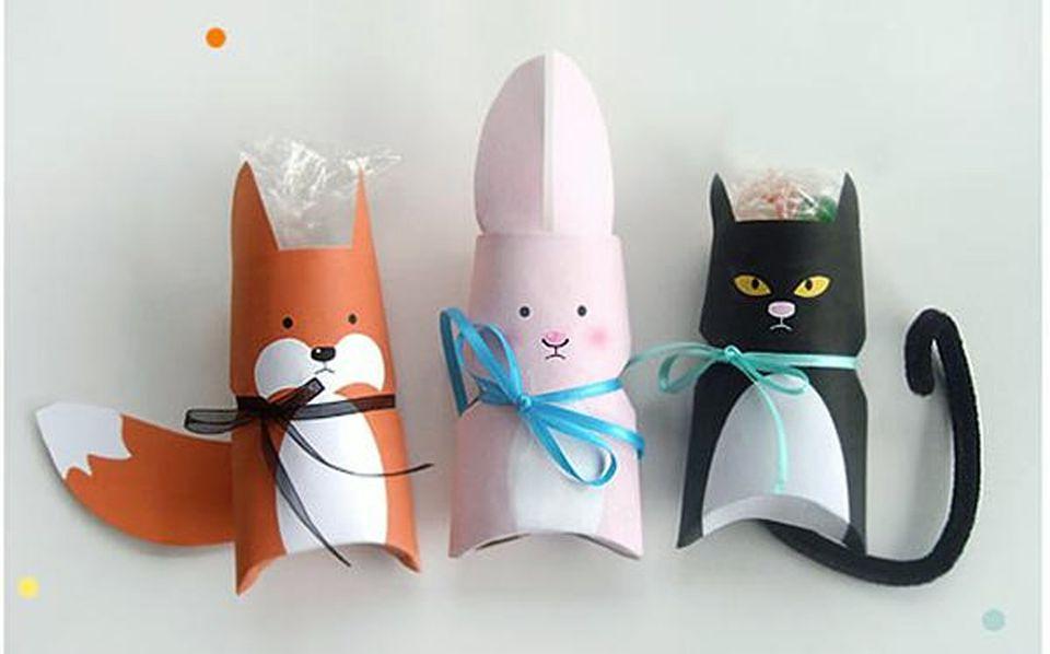 animal printable gift boxes