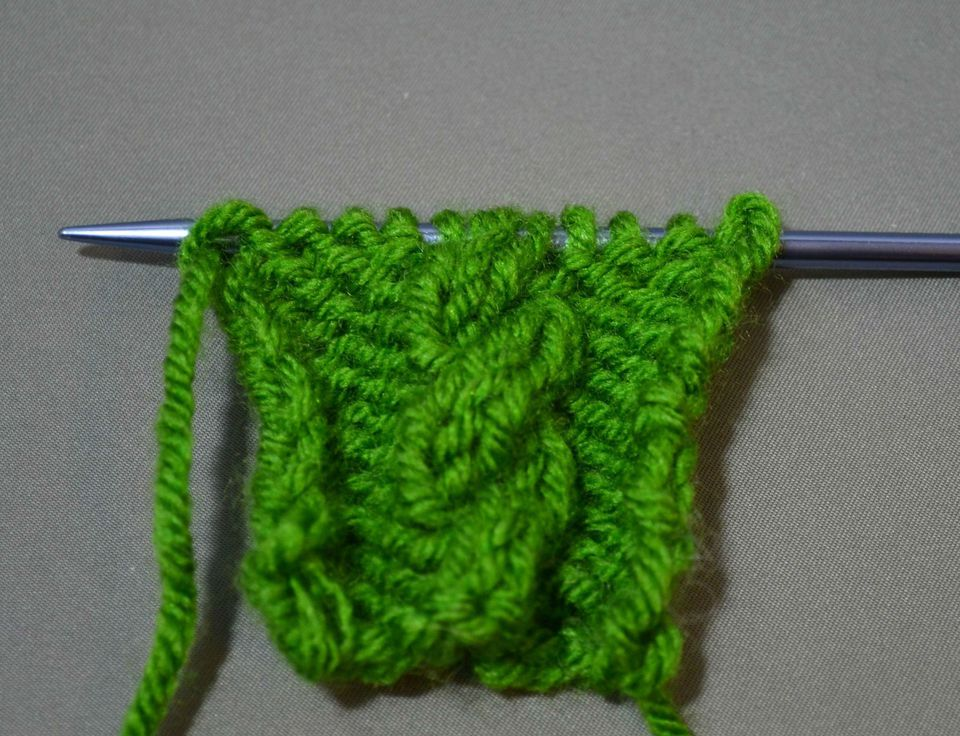 What is a cable back in knitting?