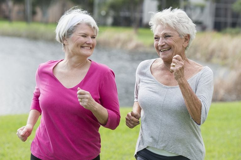 Running can help ease the symptoms of hip and knee osteoarthritis.