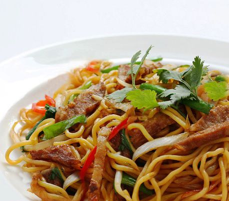 Thai Stir Fried Beef Noodles With Vegetables Recipe