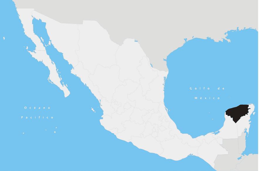 Yucatan State in Mexico
