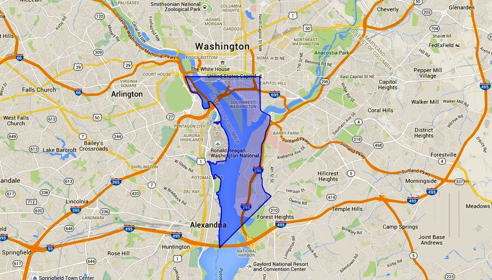 SW Washington DC Map