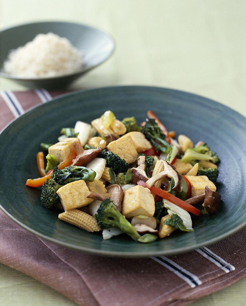 Simple Vegan Tofu and Vegetable Stir-Fry