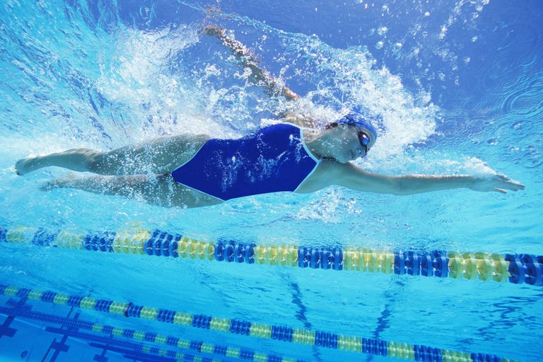 Swimming is a good cardio workout.