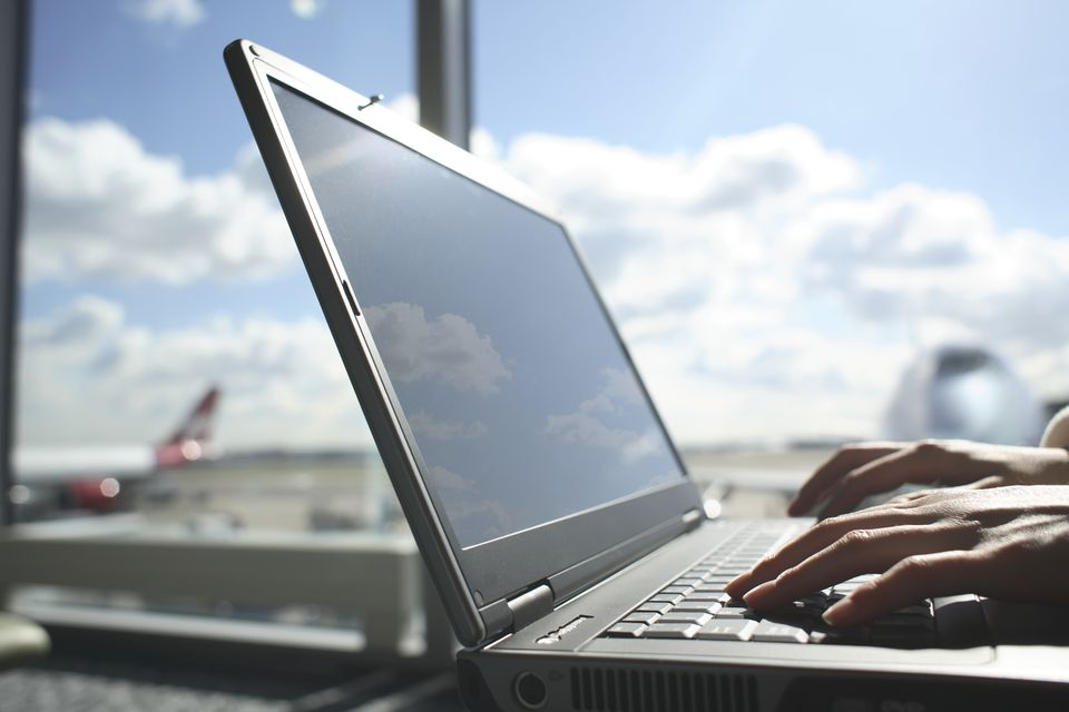 Use your airport's website to improve your air travel experience.