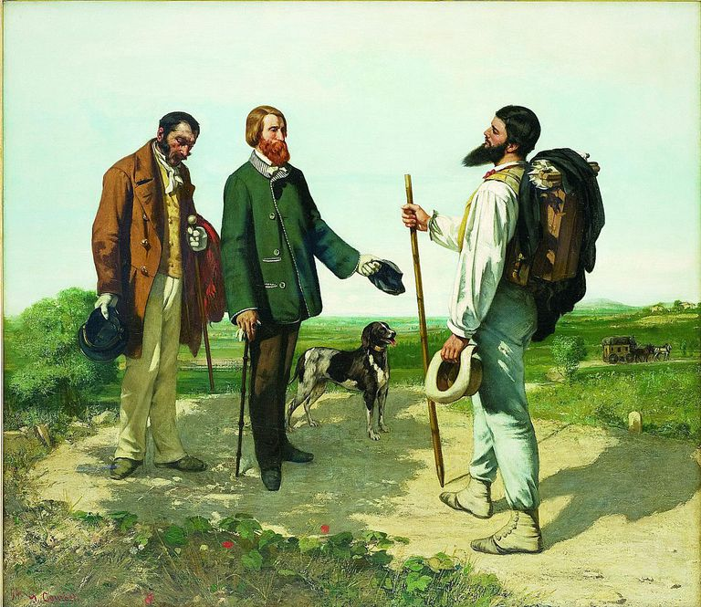 The Meeting by Gustave Courbet © Musée Fabre, Montpellier; used with permission