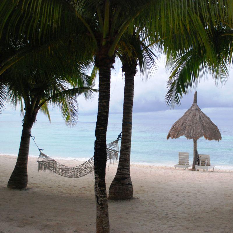 White Sand Beach near Bohol Beach Club, Panglao Island.