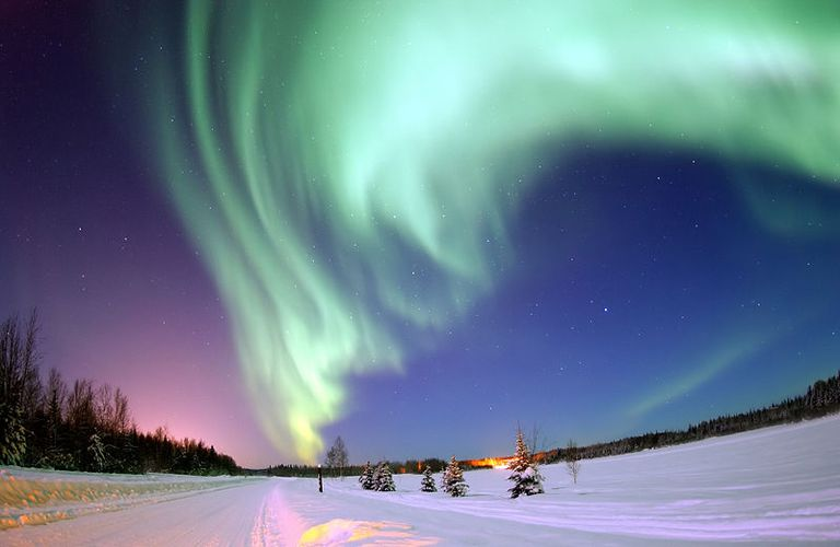 The frequency of light, as from the aurora borealis, may be used to find its wavelength.
