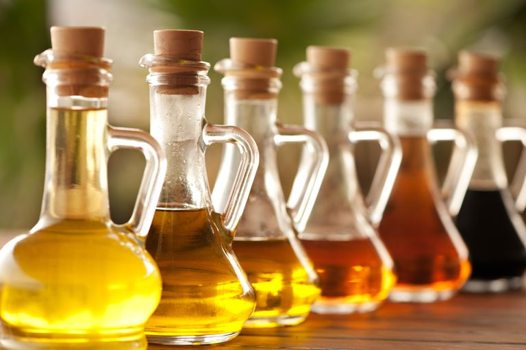 Various cooking oils on the table