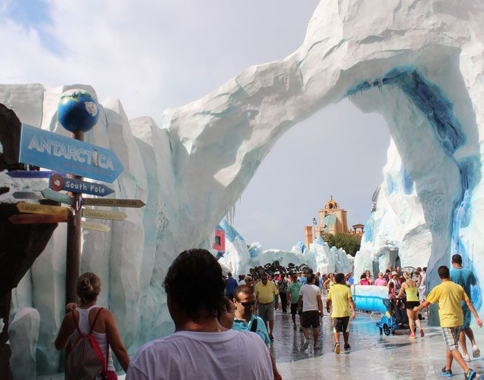 Entrance to Antarctica: Empire of the Penguin.
