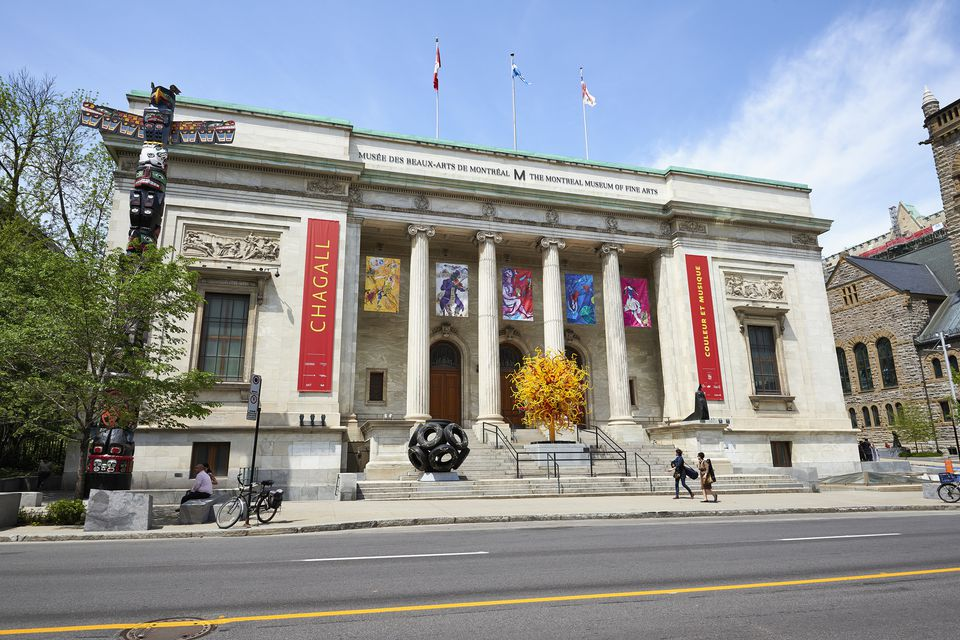 the Facade of the Montreal Museum of Fine Art.
