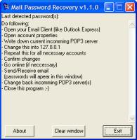 Mail Password Recovery - Email Password Recovery Tool