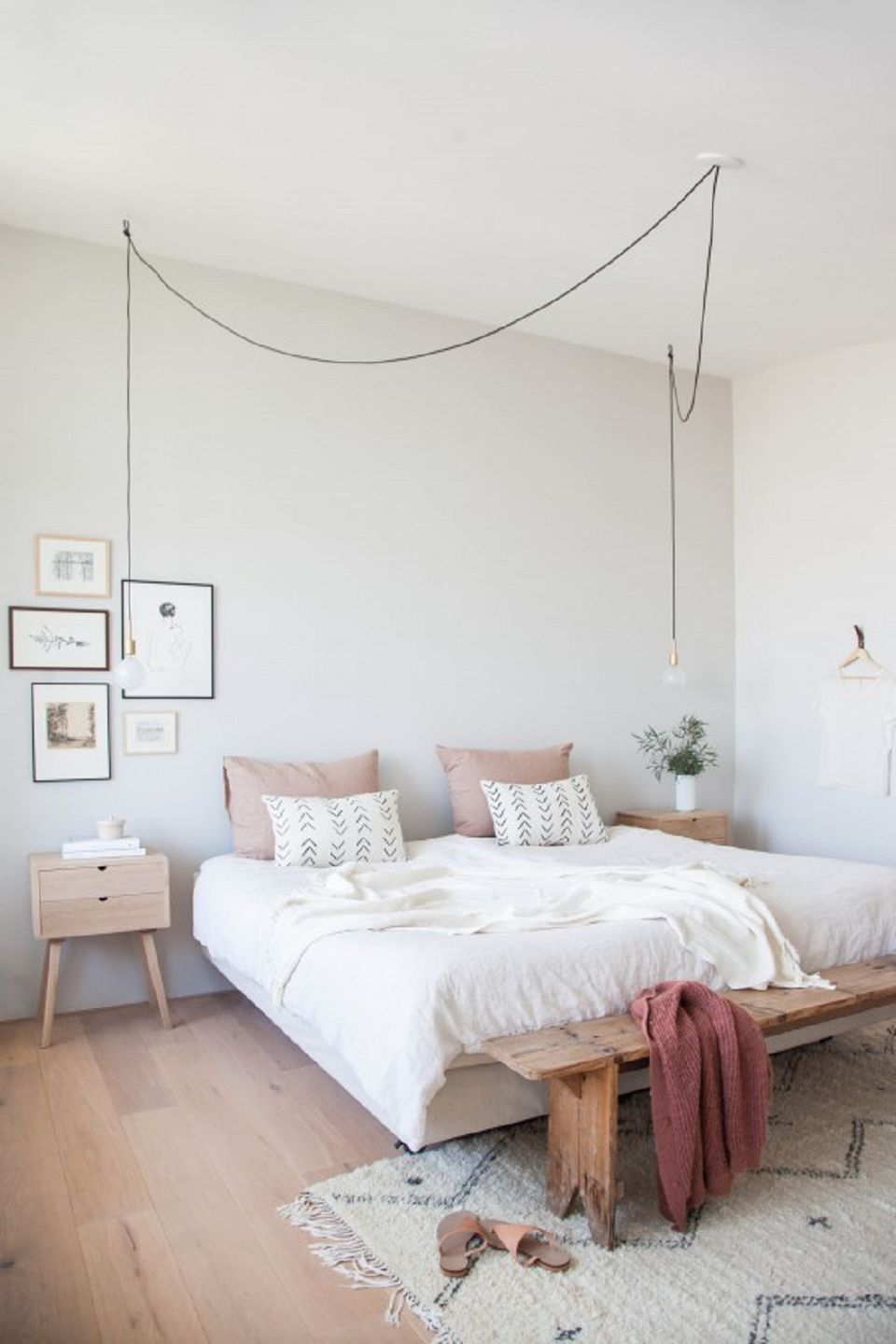 Peaceful Scandinavian bedroom