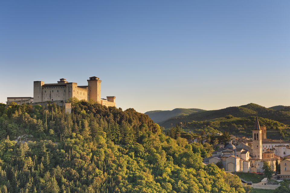 Italy, Umbria, Italy, Perugia district, Spoleto, Rocca Albornoz