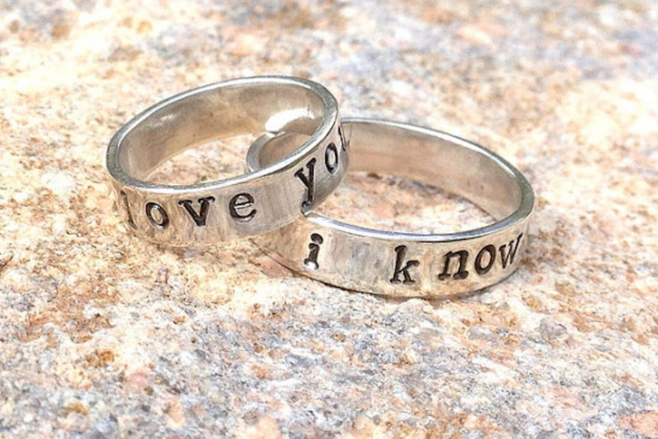 bands sterling silver engagement quote geek geekandgamer gamer wars star rings inspired and wedding