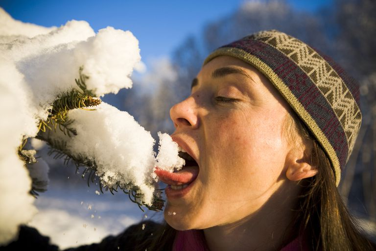 Unless it's from a polluted area, it's perfectly safe to eat snow.