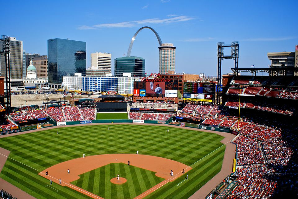 The Cardinal's playing at Busch Stadium in St. Louis.