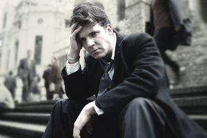 a business man looking pensive