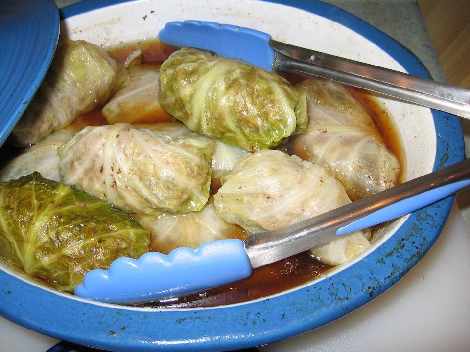 Polish Stuffed Cabbage Rolls - Golabki
