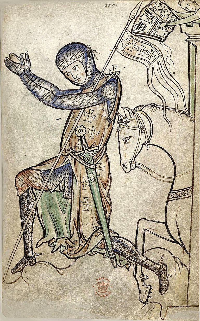 Kneeling Knight from the Westminster Psalter