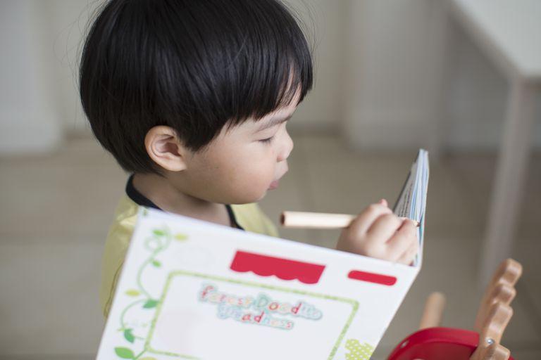 toddler writing