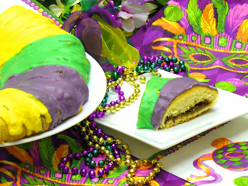 mardi, gras, recipes, king, cake, party, fat, tuesday, receipts