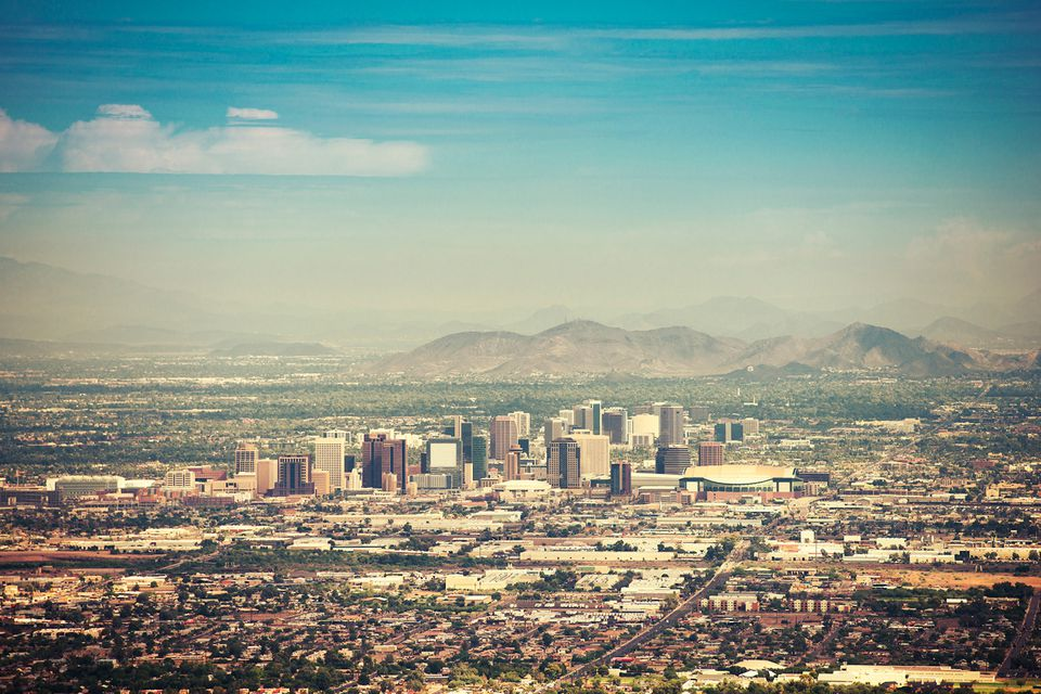 Phoenix, AZ skyline pollution