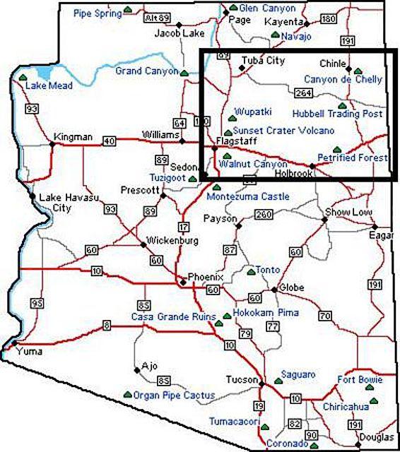 Northern Arizona Map