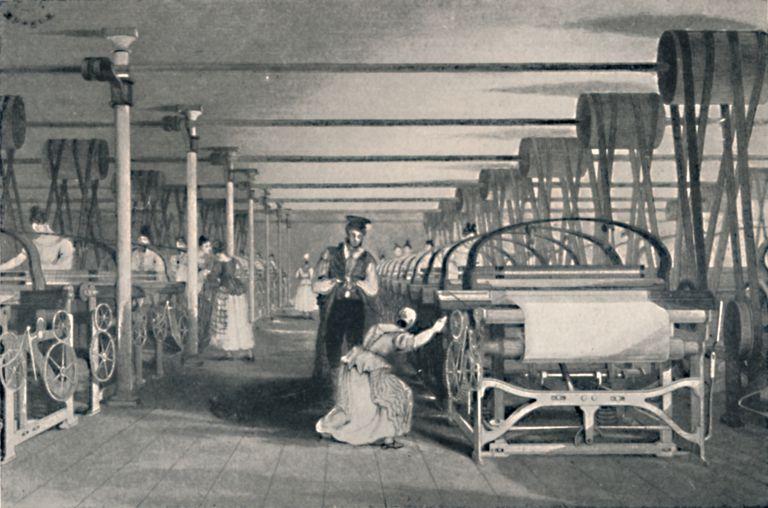 Weaving By Power Looms 1835