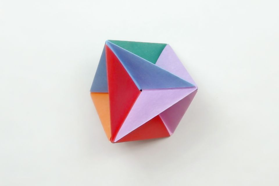 origami blow top toy