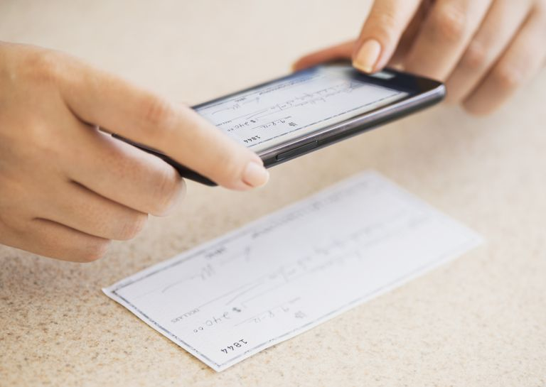 Depositing a Check with Mobile Phone