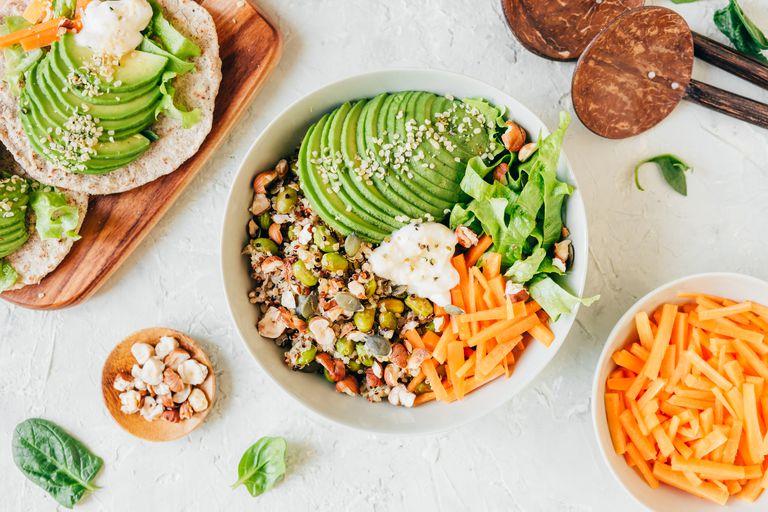 Healthy grain avocado bowl