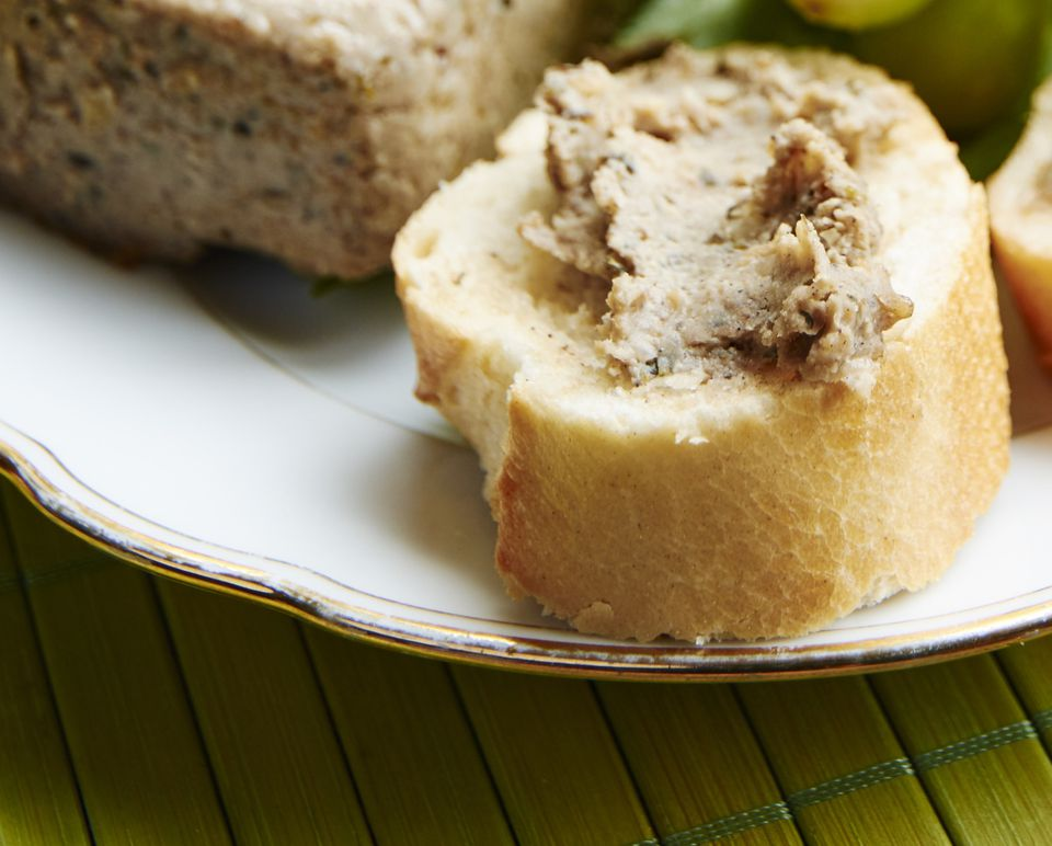 Vegetarian and vegan pate made from walnuts and tofu