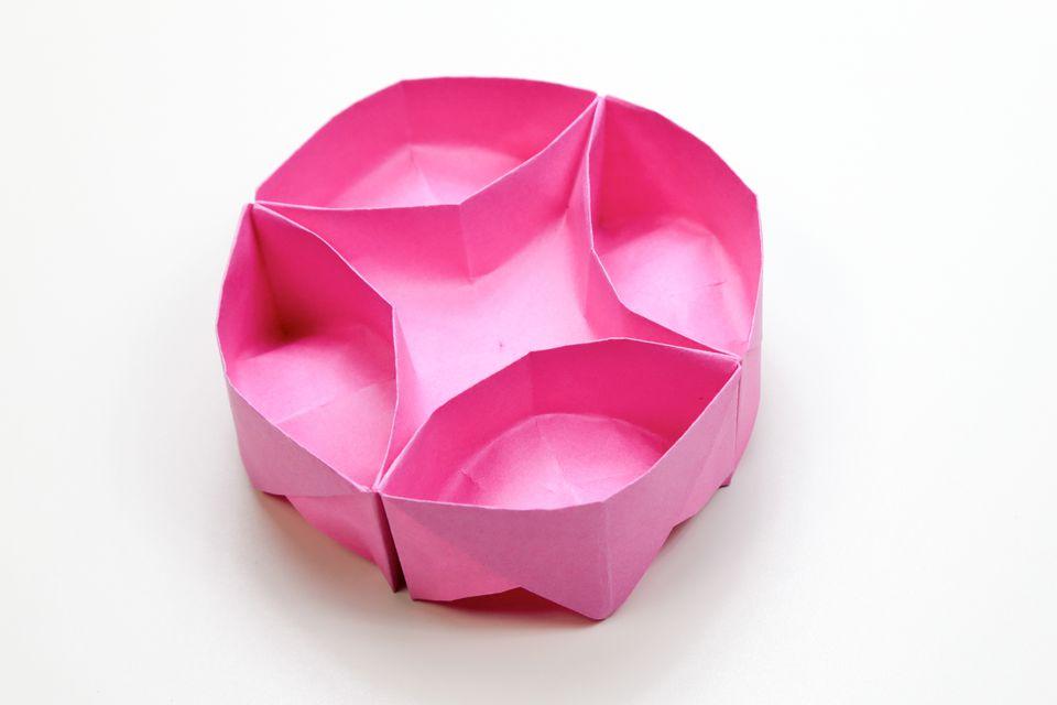 round origami box tutorial