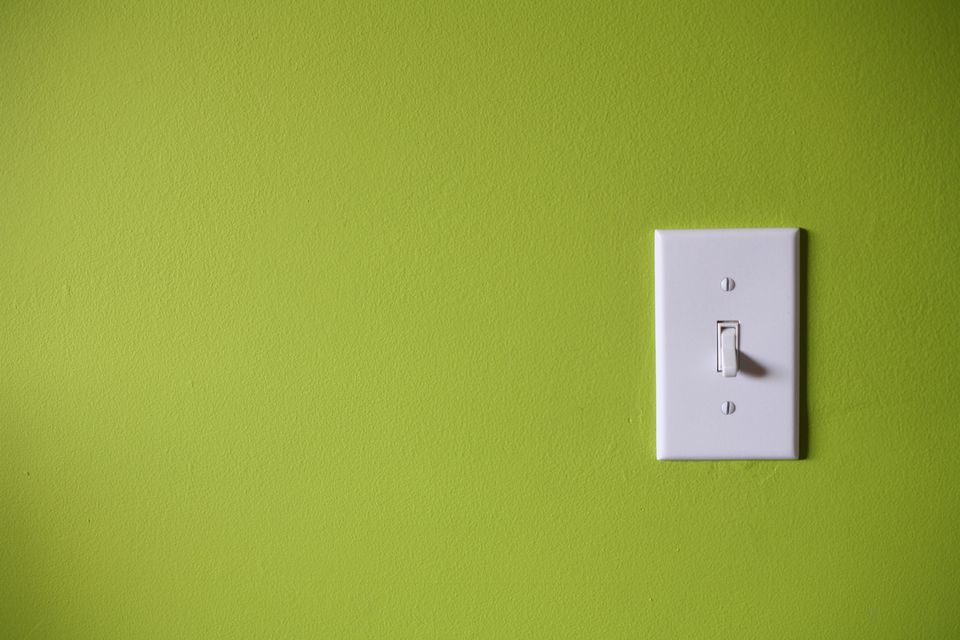 Symptoms of a defective wall switch light switch in front of green background aloadofball Gallery