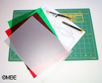 Step-by-step instructions on how to cut your own stencils.