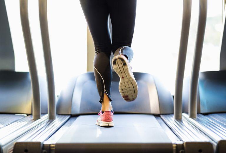 Vigorous physical activity - running on a treadmill