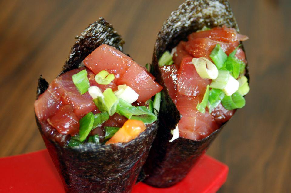 Spicy Tuna Handroll Sushi