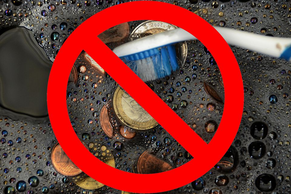 no cleaning coins