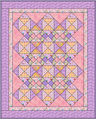 In The Pinks An Easy Baby Quilt Pattern