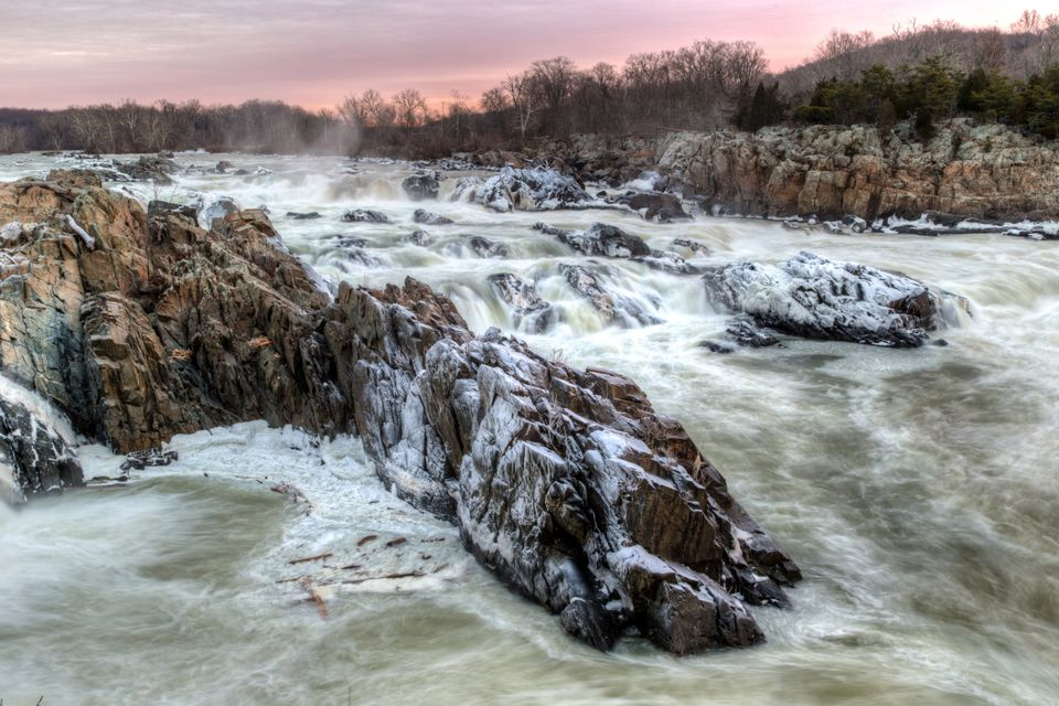 Winter Mist at Great Falls