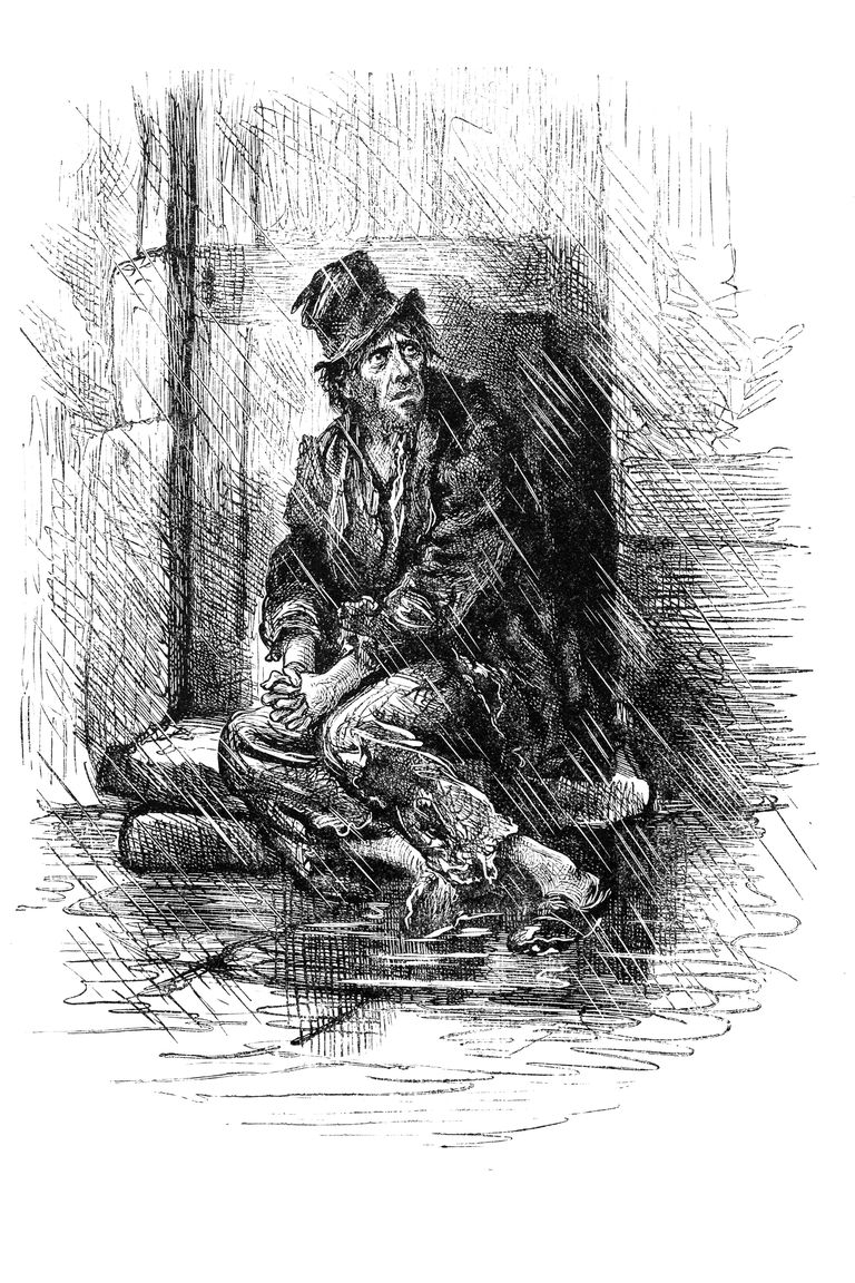 Down and out Victorian man