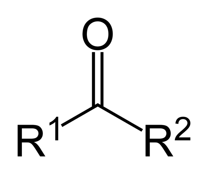The carbonyl functional group is based on the ketone group. It has the formula RCOR'.