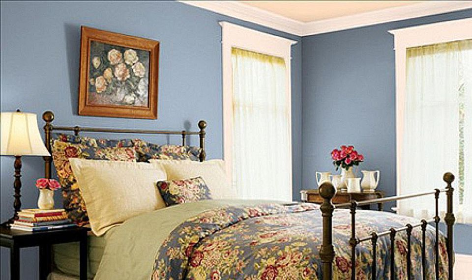 antique blue valsparjpg - Blue Bedroom Paint Colors