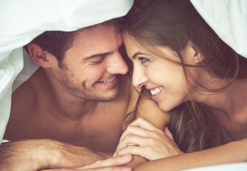 bed couple honeymoon