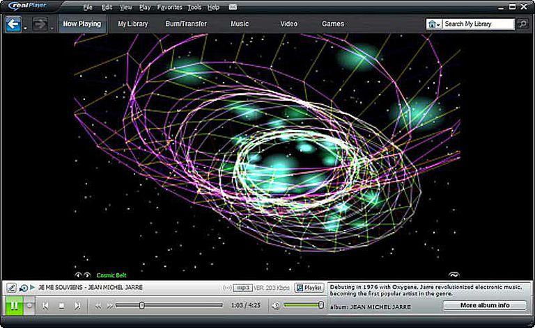 RealPlayer 11 - Visualization