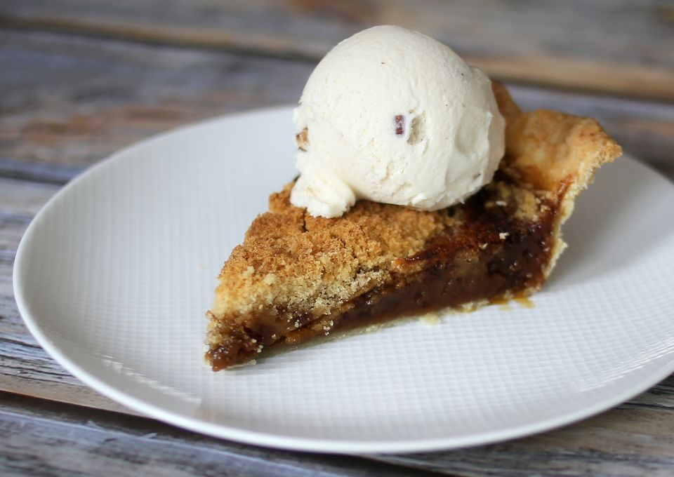 Shoo-fly Pie with sorghum syrup