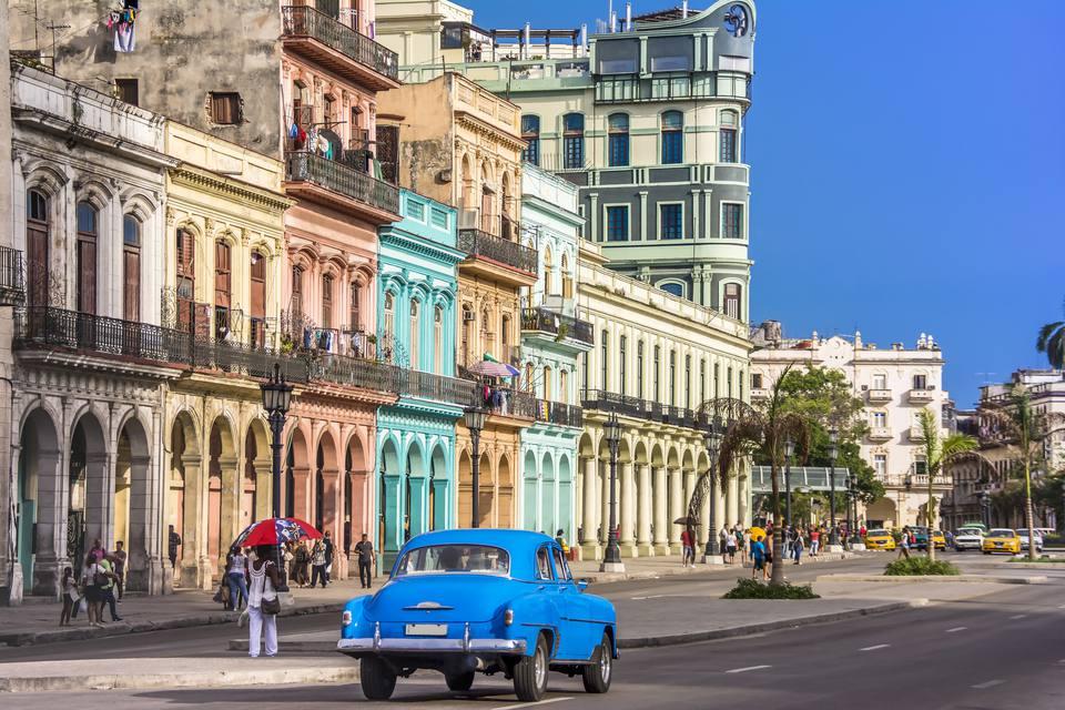 View of Havana city, Cuba.