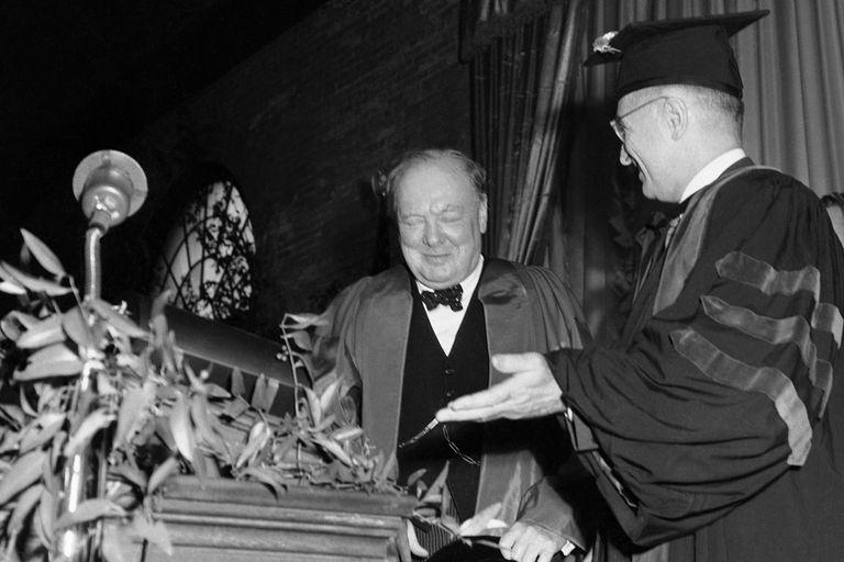 Winston Churchill and Harry Truman