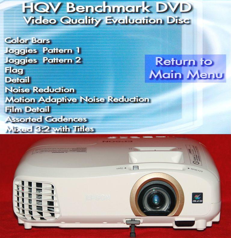 Epson PowerLite Home Cinema 2045 - HQV DVD Benchmark Test List